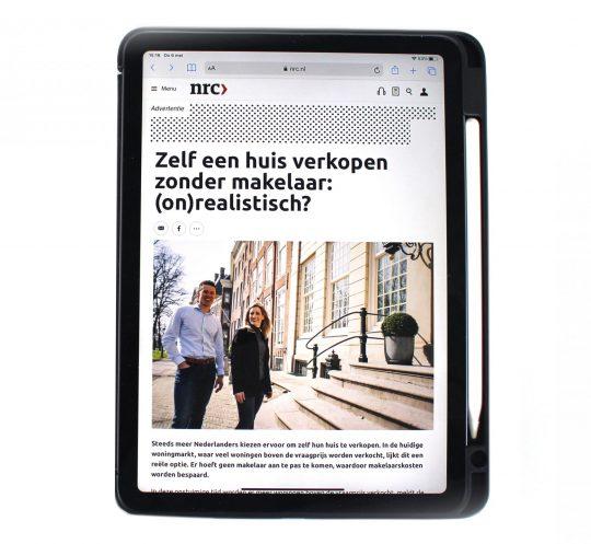 Voorbeeld Branded Content op iPad